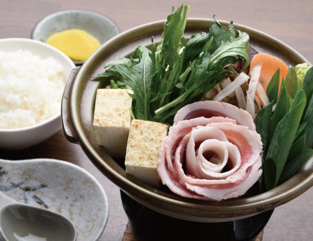 ミニぼたん鍋定食
